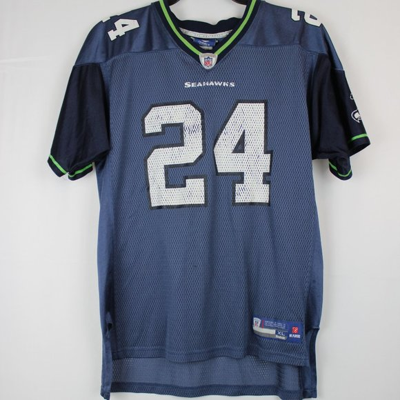 Vintage Reebok 2010 Marshawn Lynch Seahawks Jersey